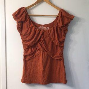 Anthropologie Deletta Rust Orange Top Medium